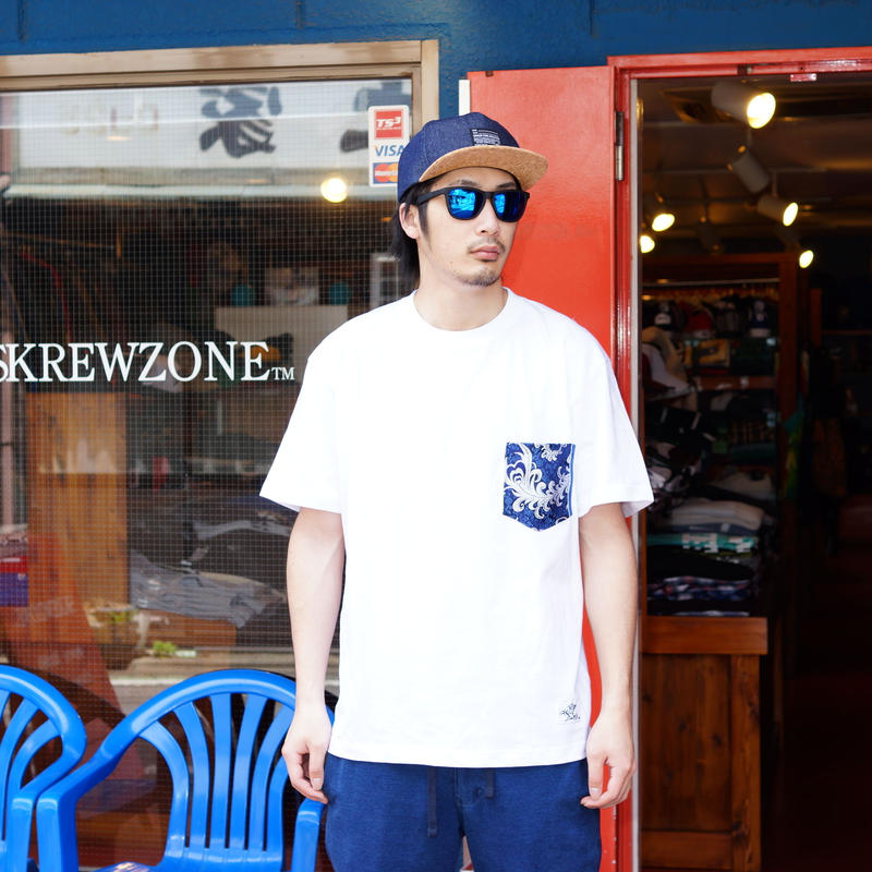 【SKREWZONE】CHINA DRESS POCKET TEE