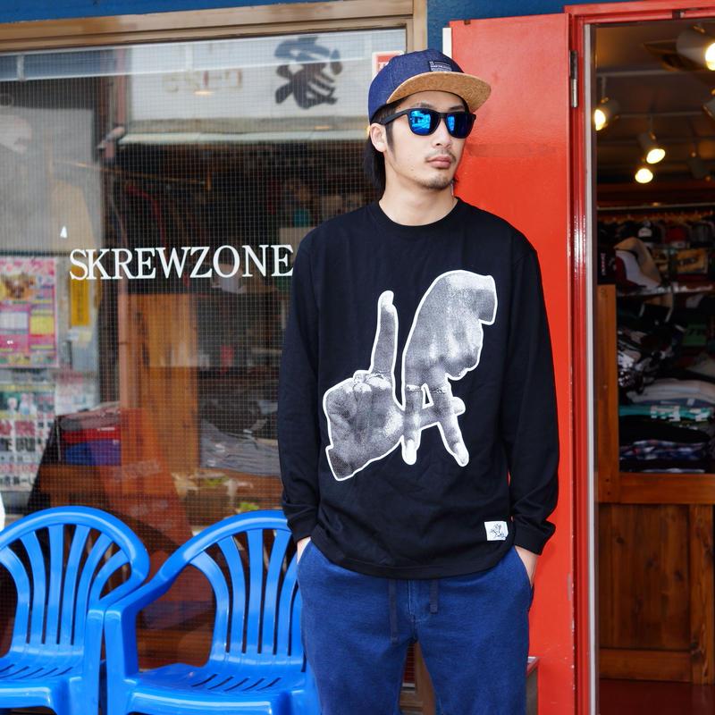 "【SKREWZONE】TRADE MARK""LA"" LONG TEE"