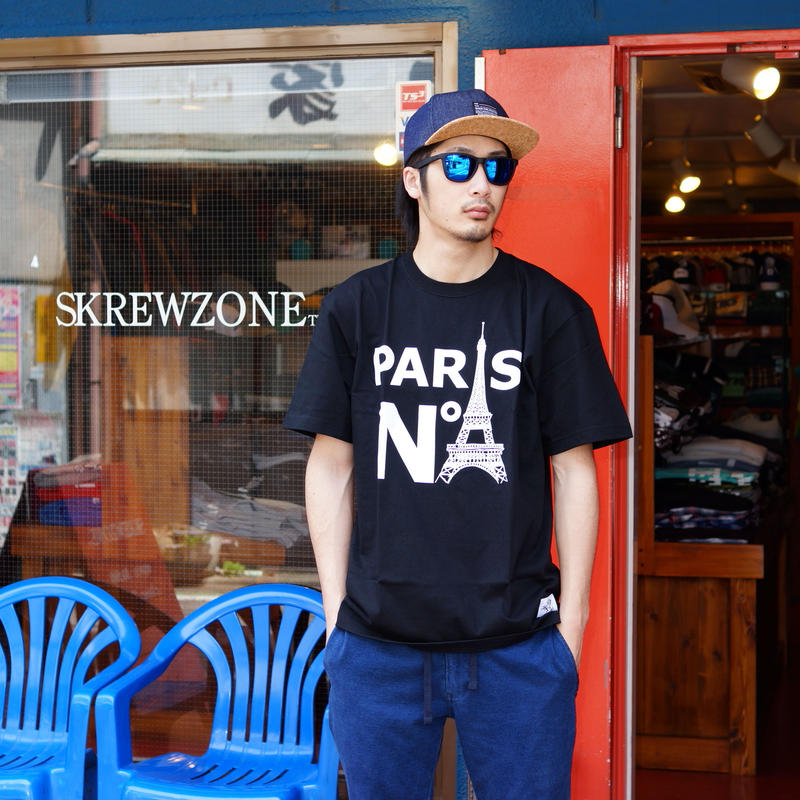 【SKREWZONE】PARIS COLLEGE TEE