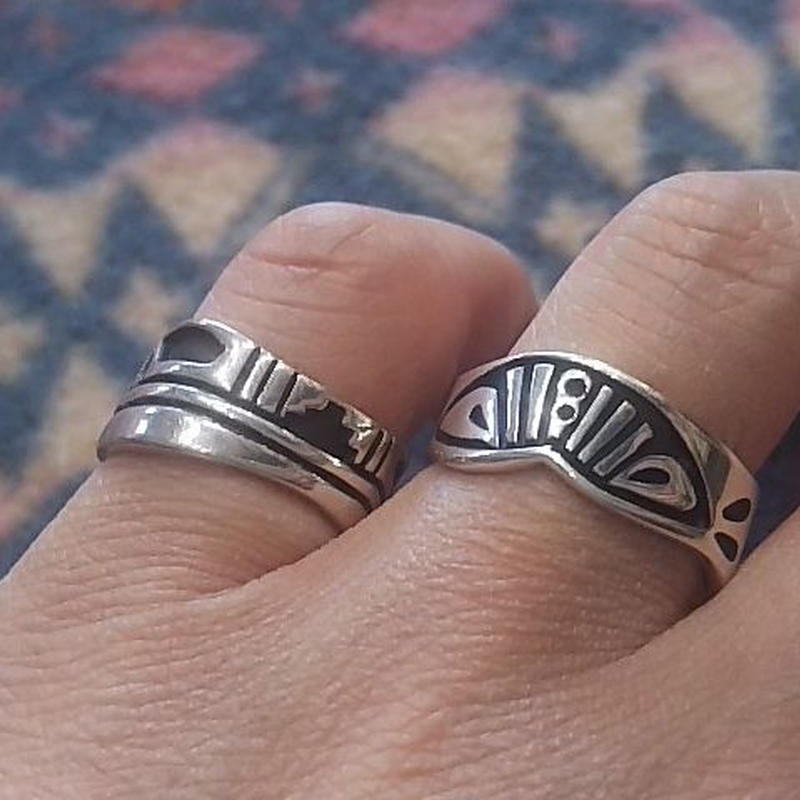NAVAJO 『OVERLAY RING(Nelson J Begay)』