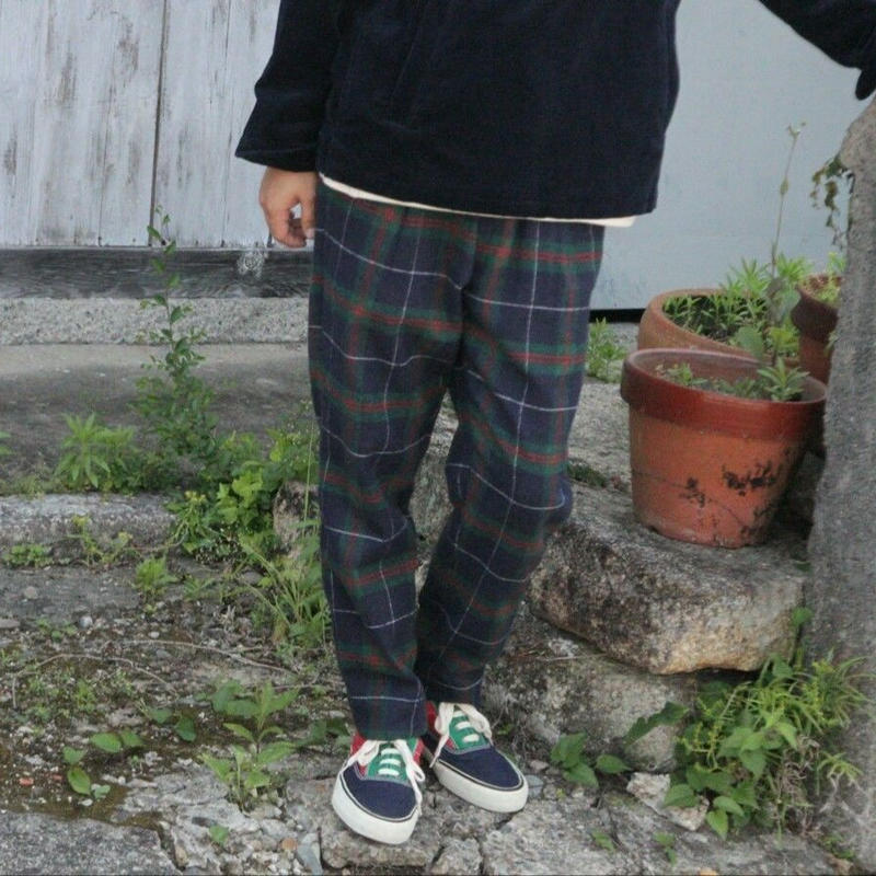 Nasngwam. 『GALLIANO PANTS CHECK (GREEN)』