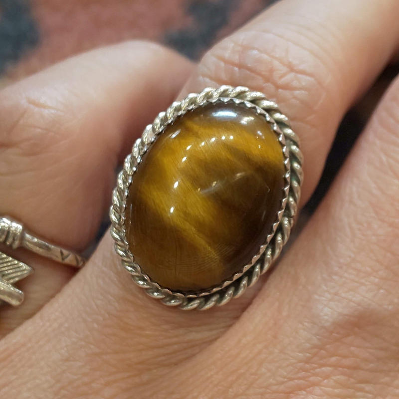 NAVAJO 『TIGER EYE RING 14号』