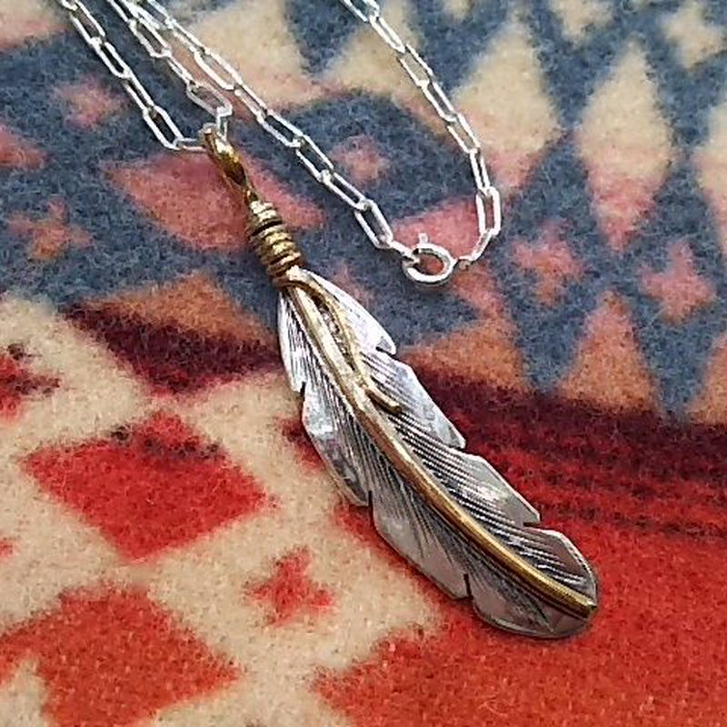 NAVAJO 『12KGF FEATHER NECKLACE(Tee Mace)』