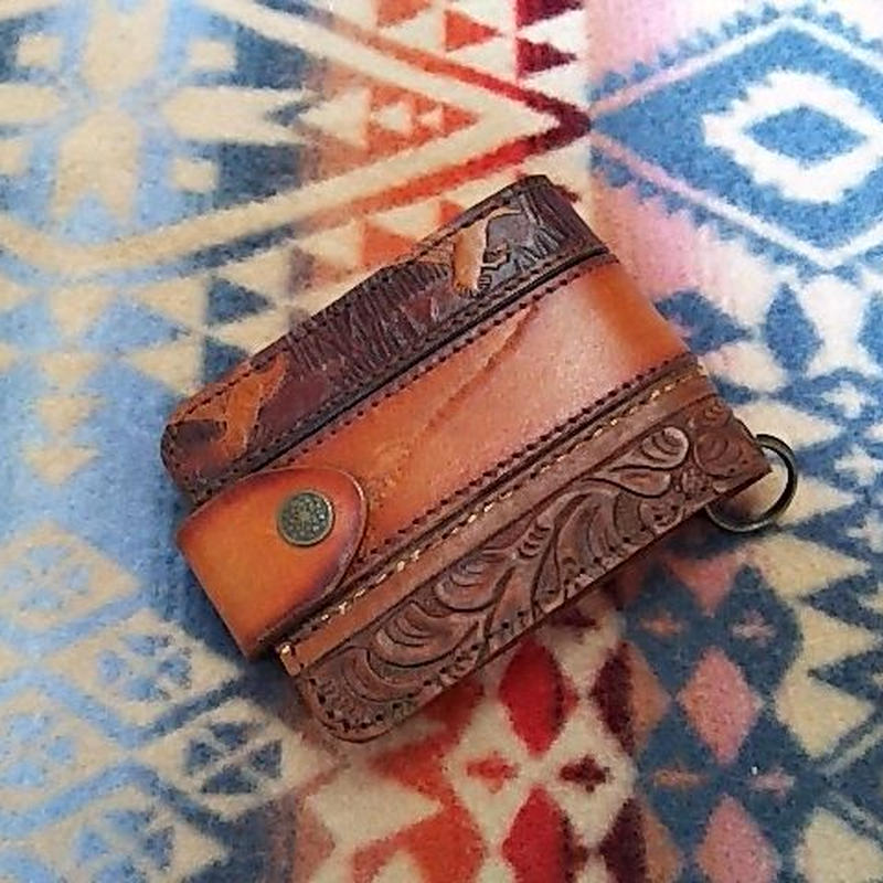 【SALE】 Nasngwam. OLD LEATHER WALLET (PATTERN)』