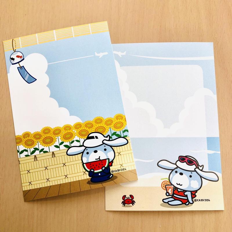 【夏限定!】CAヨシコさんメッセージカード4枚セット✨