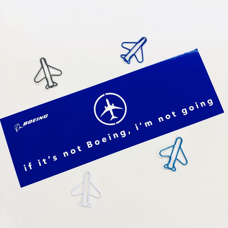 スーツケースに貼っても存在感ばつぐん!ボーイングステッカー