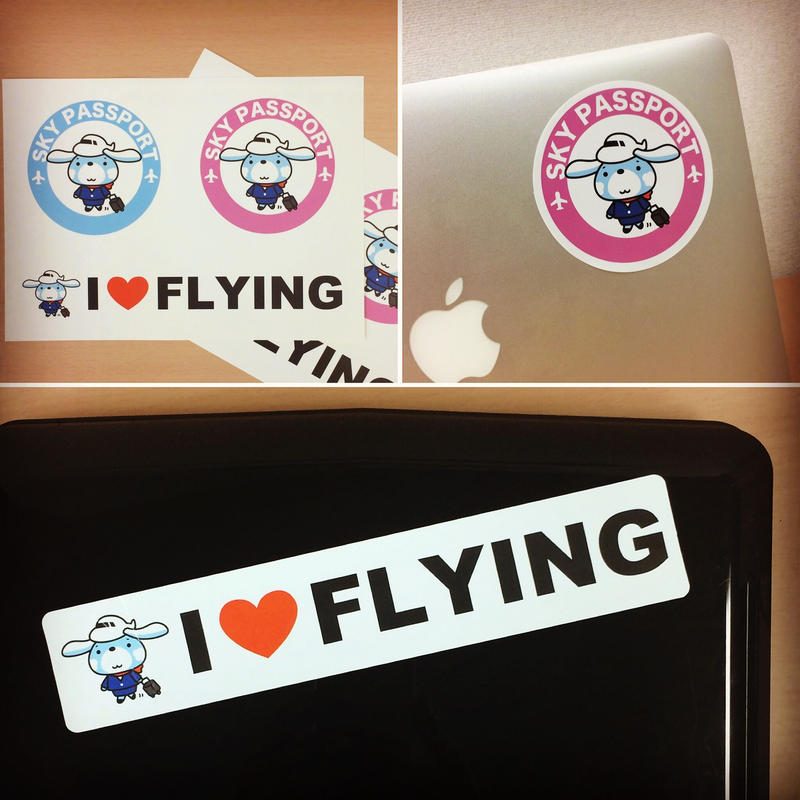CAヨシコさん& I ♡ FLYINGステッカー2枚セット