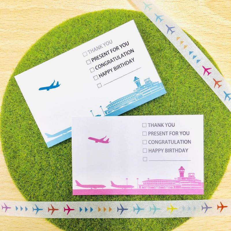 空港&ヒコーキミニメッセージカード(たっぷり10枚入)✨