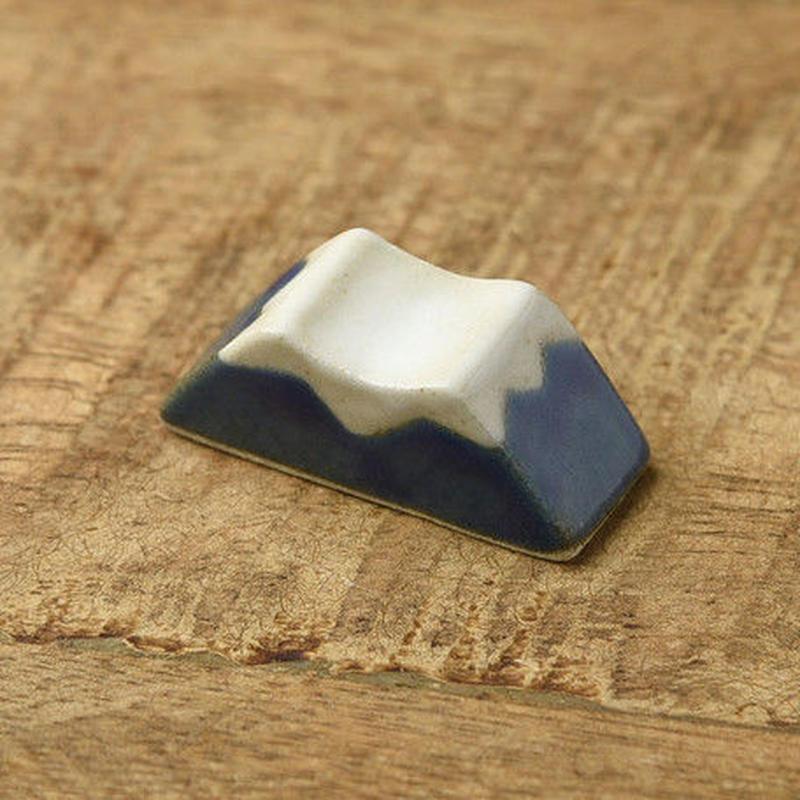 土作りの箸置き 富士山 青富士ブルー 送料185円