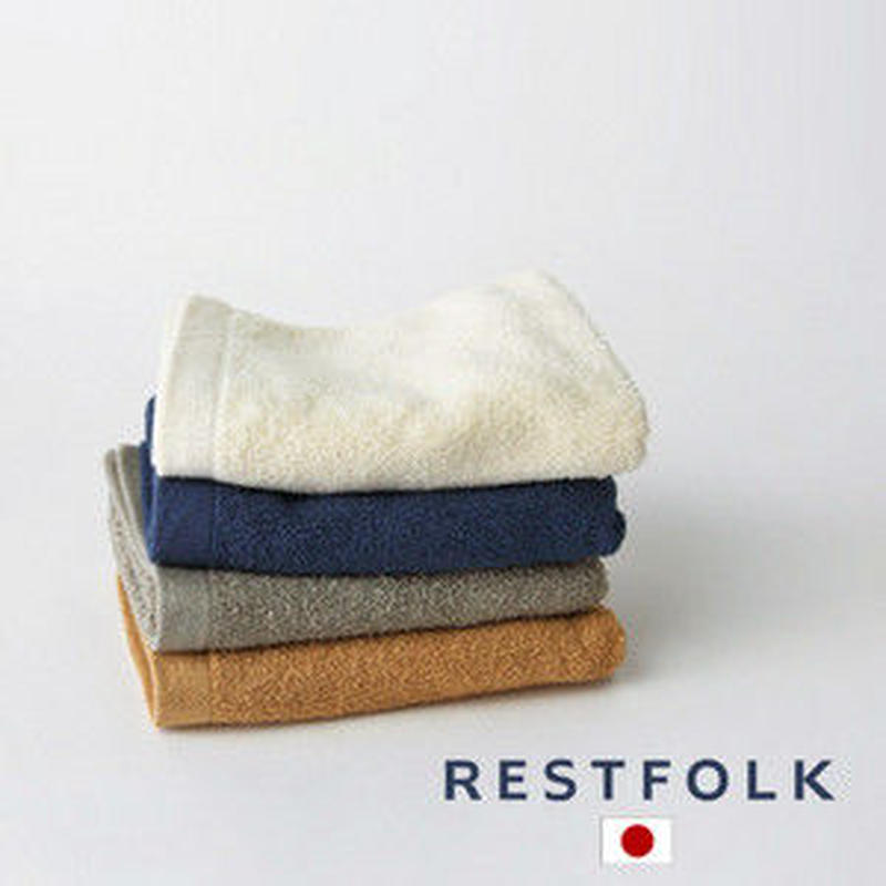 RESTFOLK フェイスタオル プラシッド Made in Japan 送料185円