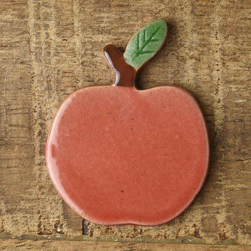 土作りの箸置き りんご 赤リンゴ 送料185円