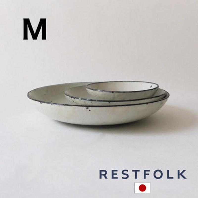 RESTFOLK セラミック リム ディーププレート(M)Made in Japan