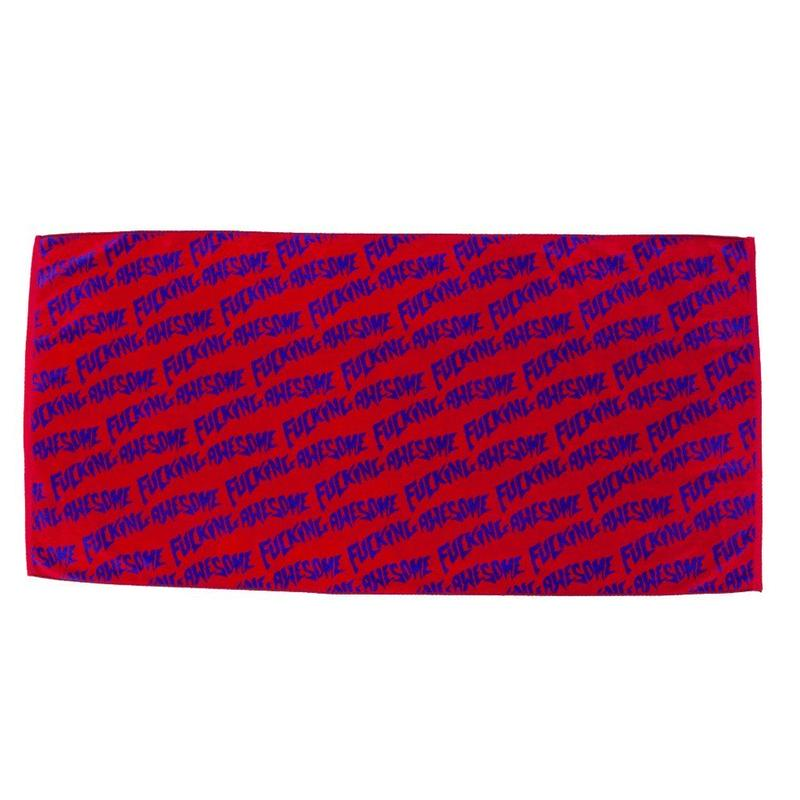 Fucking Awesome Fucking Awesome Towel - Red/Purple