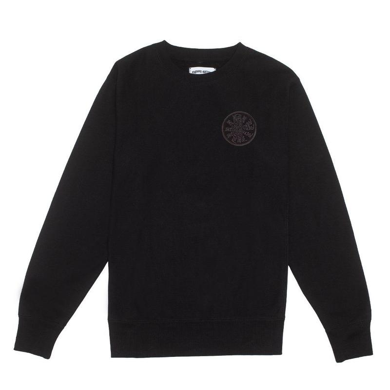 Fucking Awesome Spiral French Terry Crewneck - Black