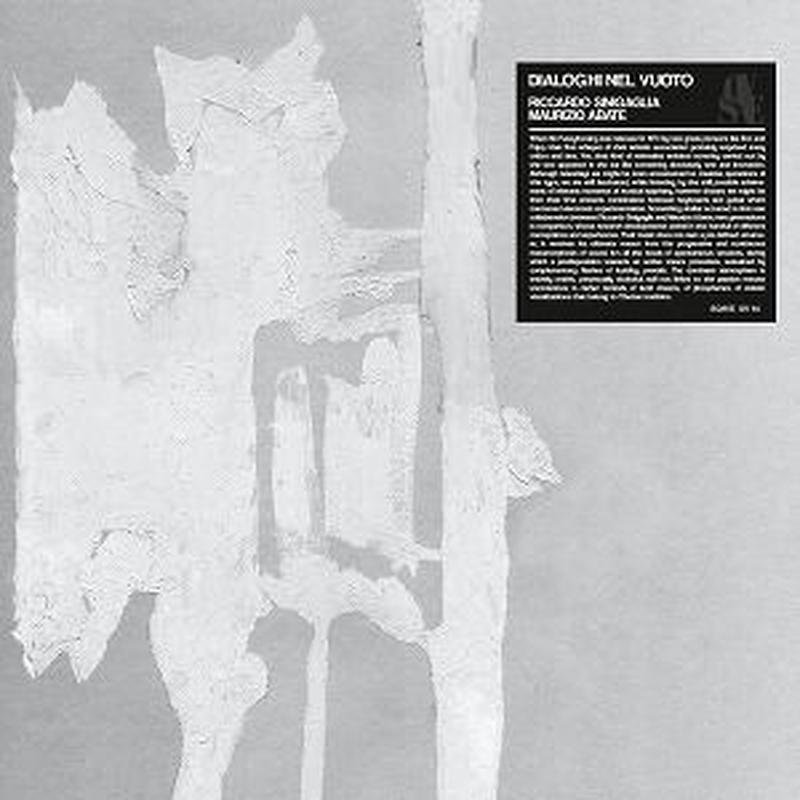 RICCARDO SINIGAGLIA , MAURIZIO ABATE / DIALOGHI NEL VUOTO (LP)