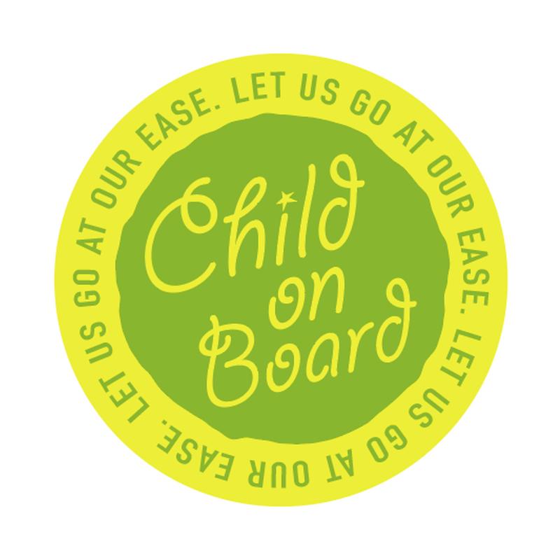 CHILD ON BOARD ステッカー(1枚)