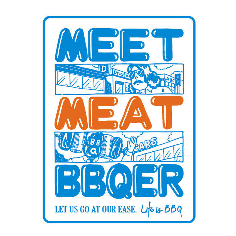 MEET MEAT BBQER ステッカー(1枚)