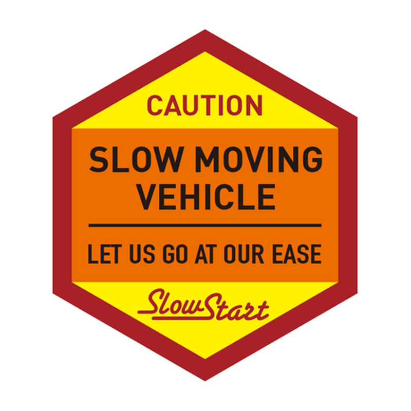 SLOW MOVING VEHICLE ステッカー(1枚)