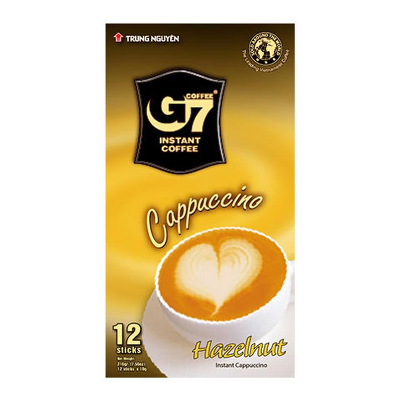 G7 Cappuccino Hazelnut(Box 12 sticks)