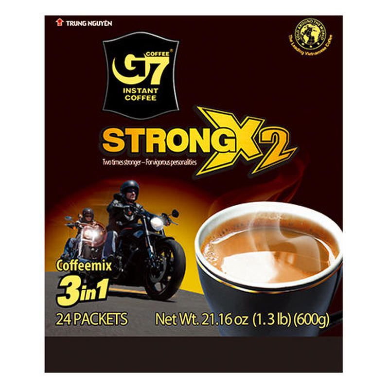 G7 Strong X2 3 in 1 instant coffee(Bag 24 sticks)