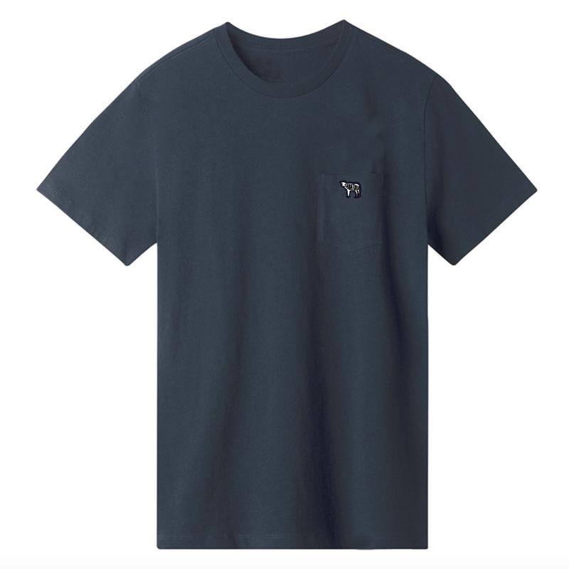 tanatiku ポケット付 ワンポイント刺繍 Tシャツ