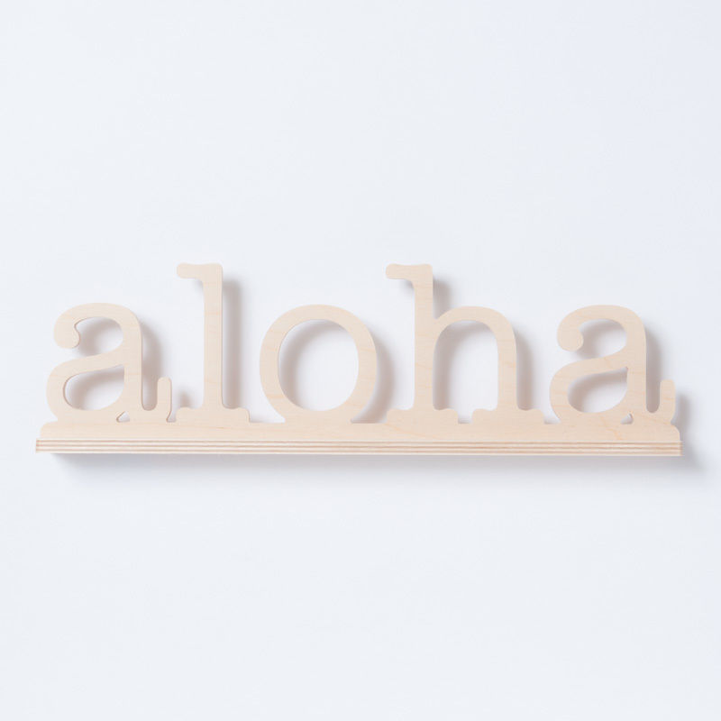 SoHa LIVING/Aloha Natural Birch Plaque  メッセージロゴウッドスタンド/L