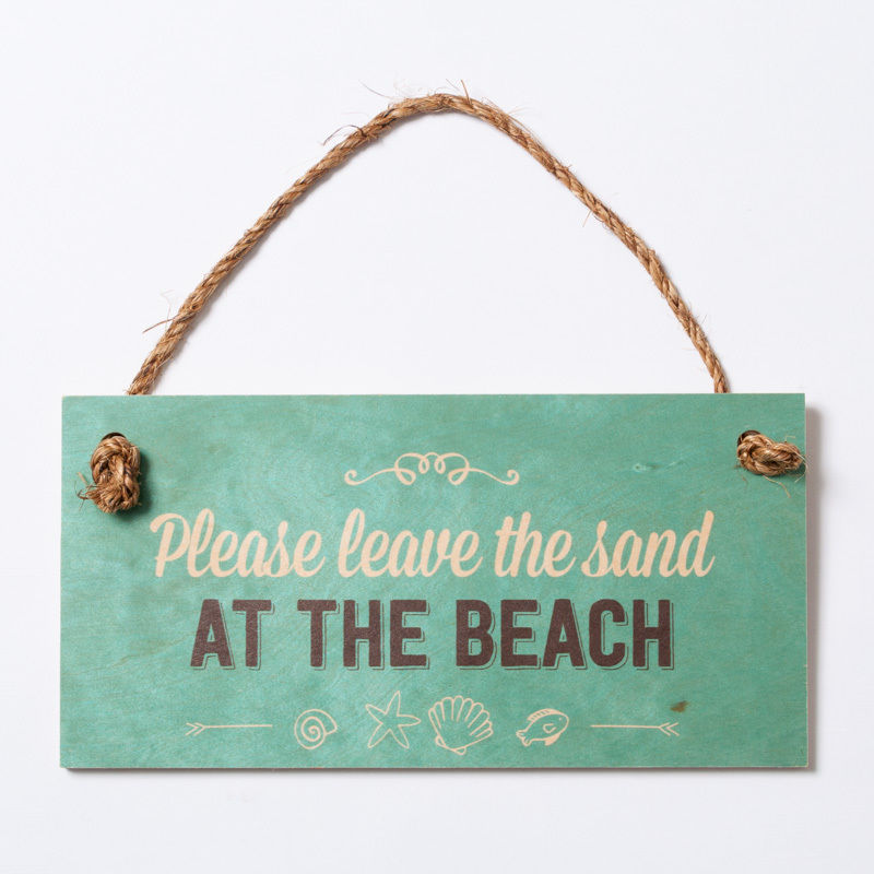 SoHa LIVING/Please the Sand At The Beach メッセージロゴプレート看板
