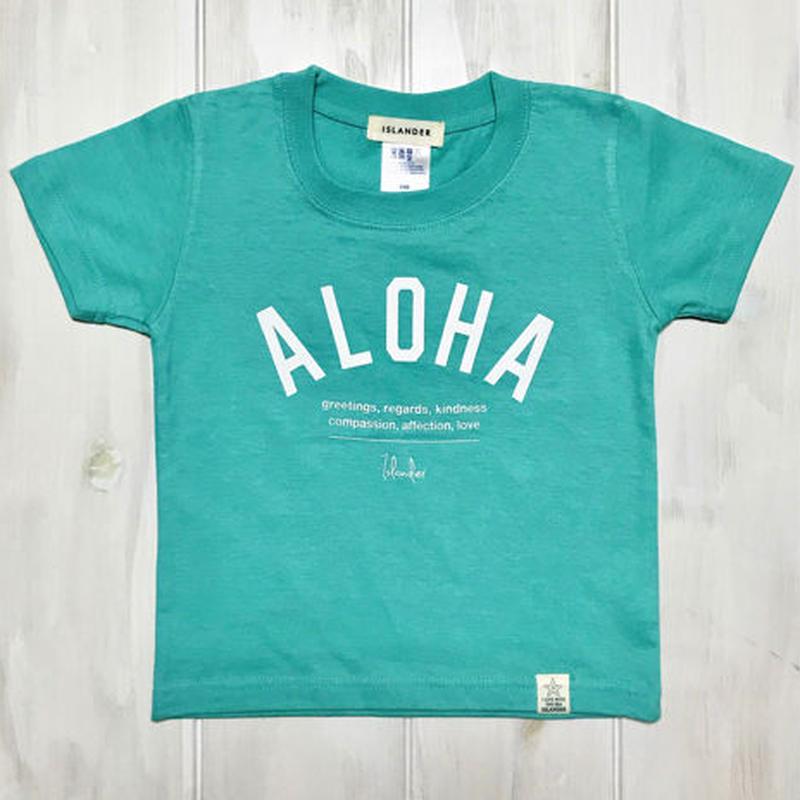 ISLANDER/アイランダー 『 ALOHA 』 キッズTシャツ/ラニカイブルー