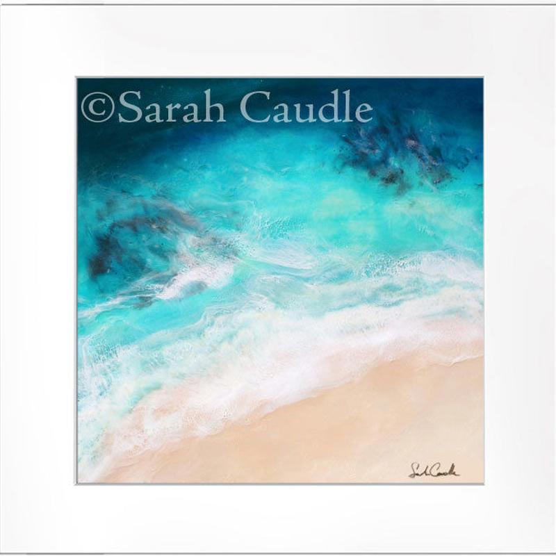 【Sarah Caudleアート】Live Aloha(正方形)