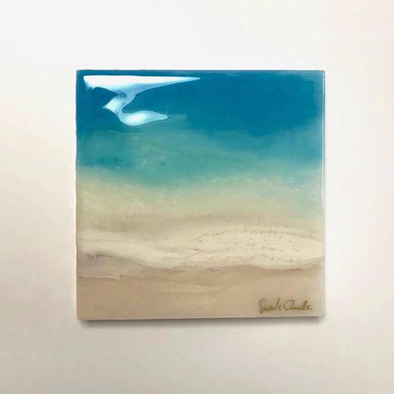 【Sarah Caudleアート】Peaceful Sea 15(原画)直筆サイン入り