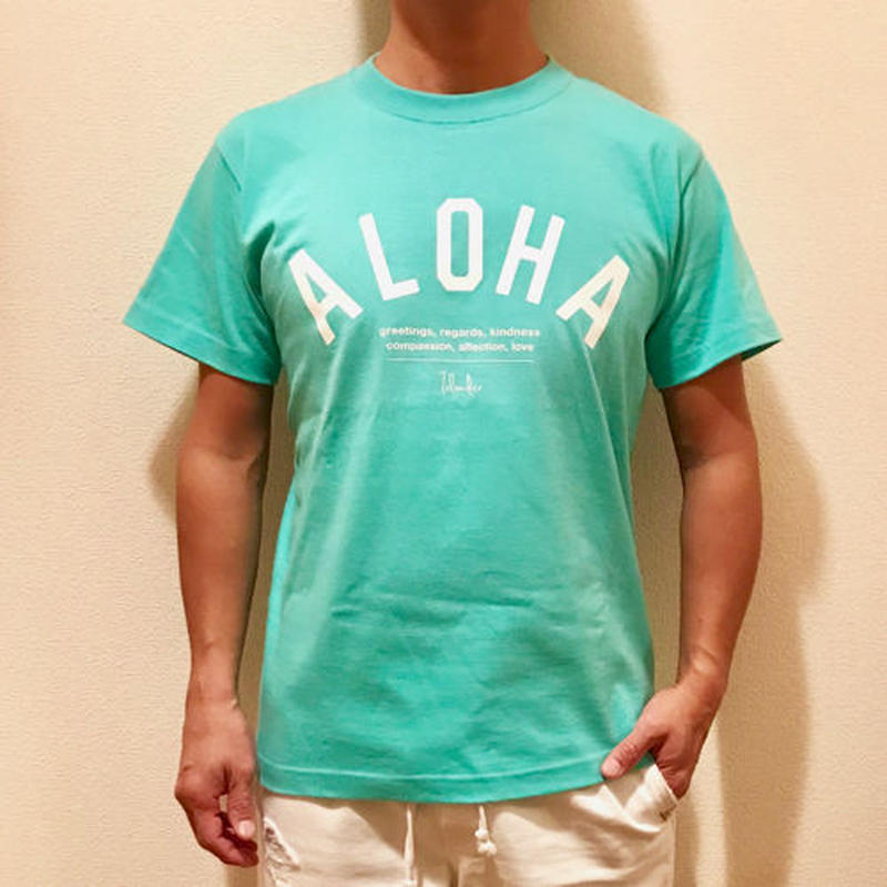 ISLANDER/アイランダー 『 ALOHA 』 Tシャツ/ラニカイブルー