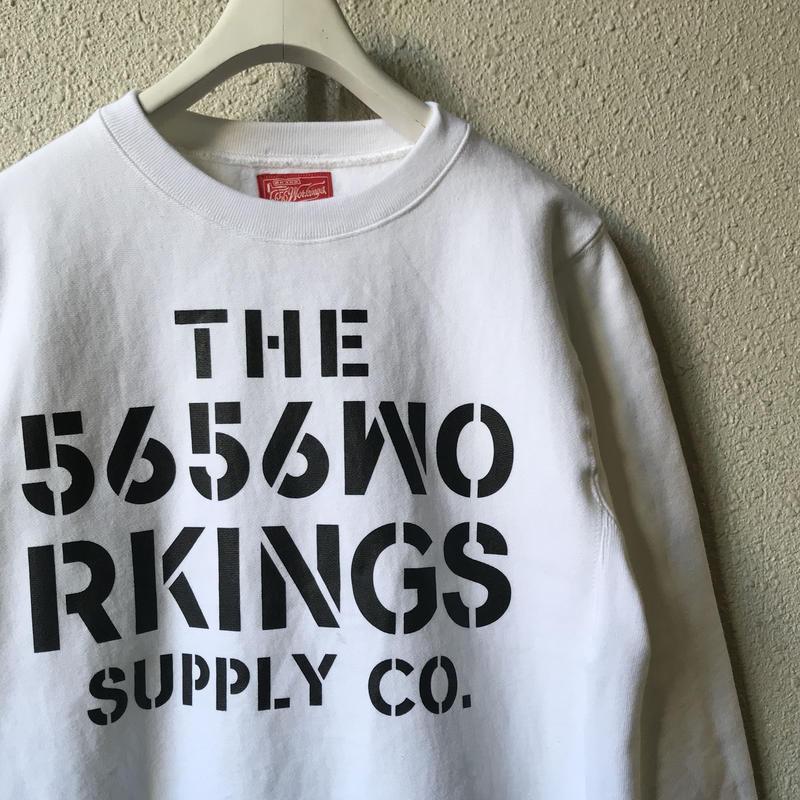 5656WORKINGS/CWS SWEAT UNIFORM_WHITE