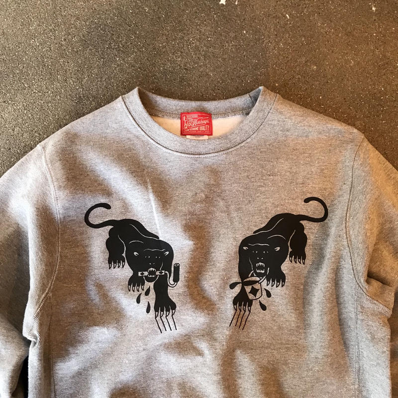 5656WORKINGS/BLK PANTHER PARTY SWEAT_GRAY