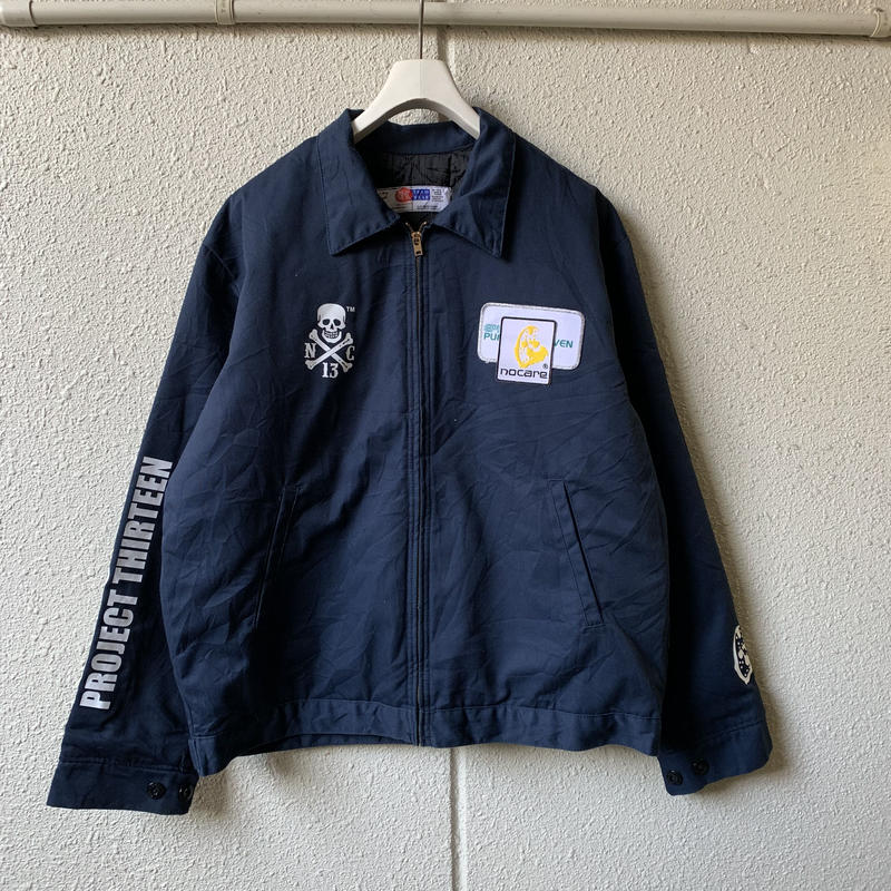 NOCARE/NC WORKERS FROM HELL WORK JKT_NAVY