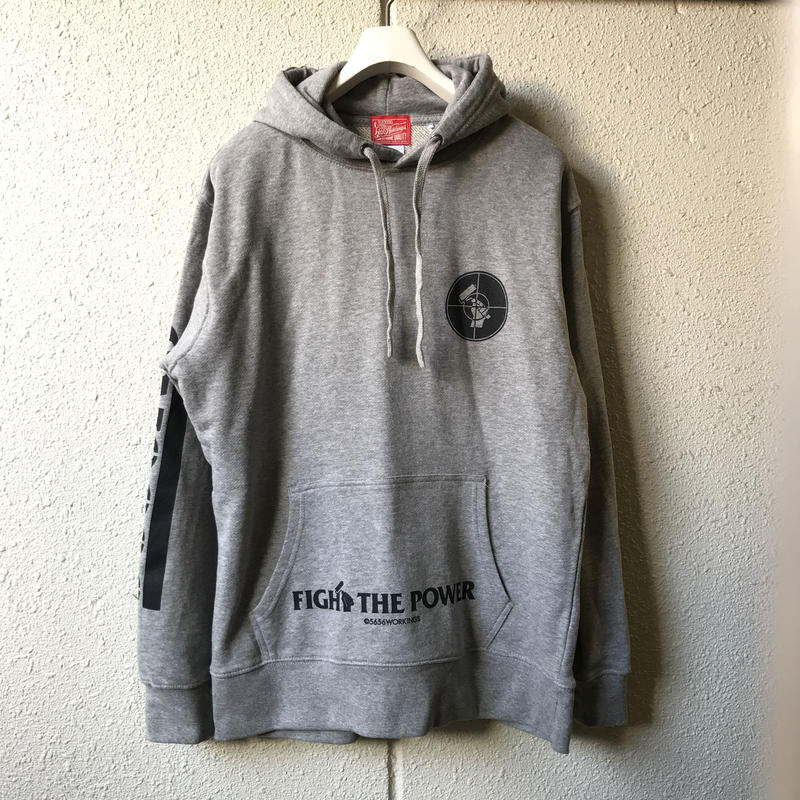 5656WORKINGS/FTP TEAM HOODIE_GRAY