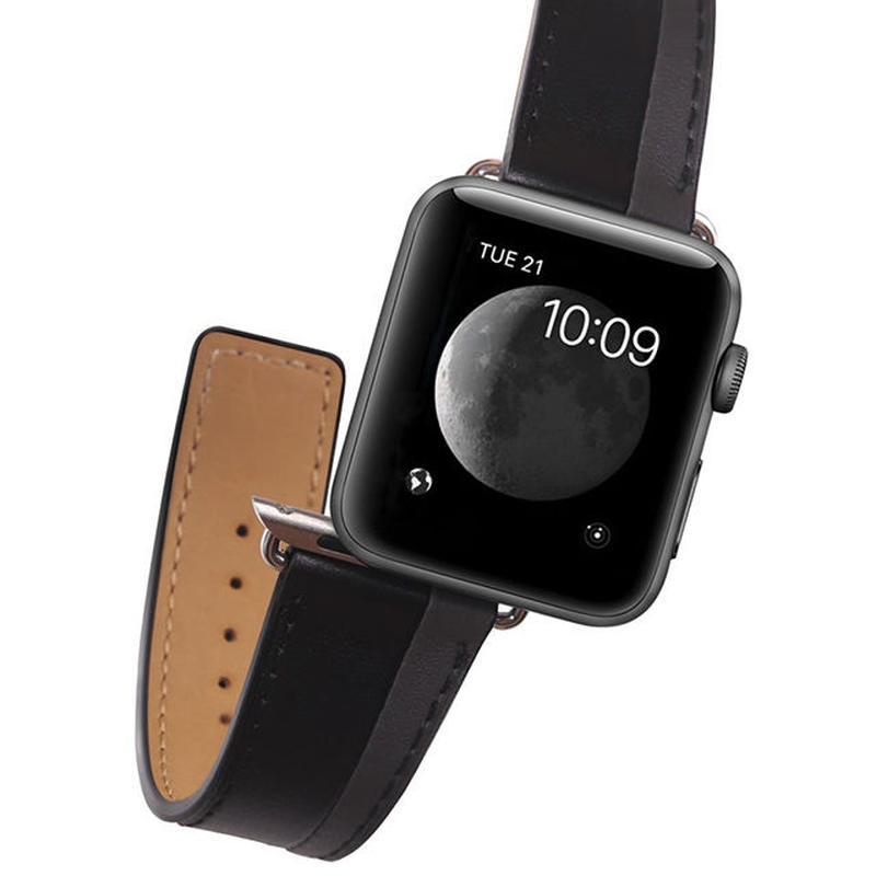 [NW547] ★Apple Watch belt 38mm/42mm ★バイカラー 本革 アップルウォッチ 替えベルト バンド カジュアル お揃い ペア