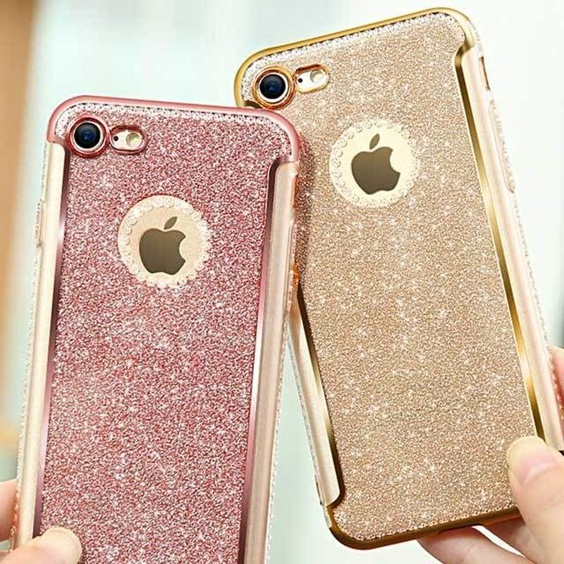 [MD352]  iPhone SE / 5 / 5s / 6 / 6s /6Plus / 6sPlus / 7 / 7Plus / 8 / 8Plus ★ シェルカバー ケース ラメ  アップル