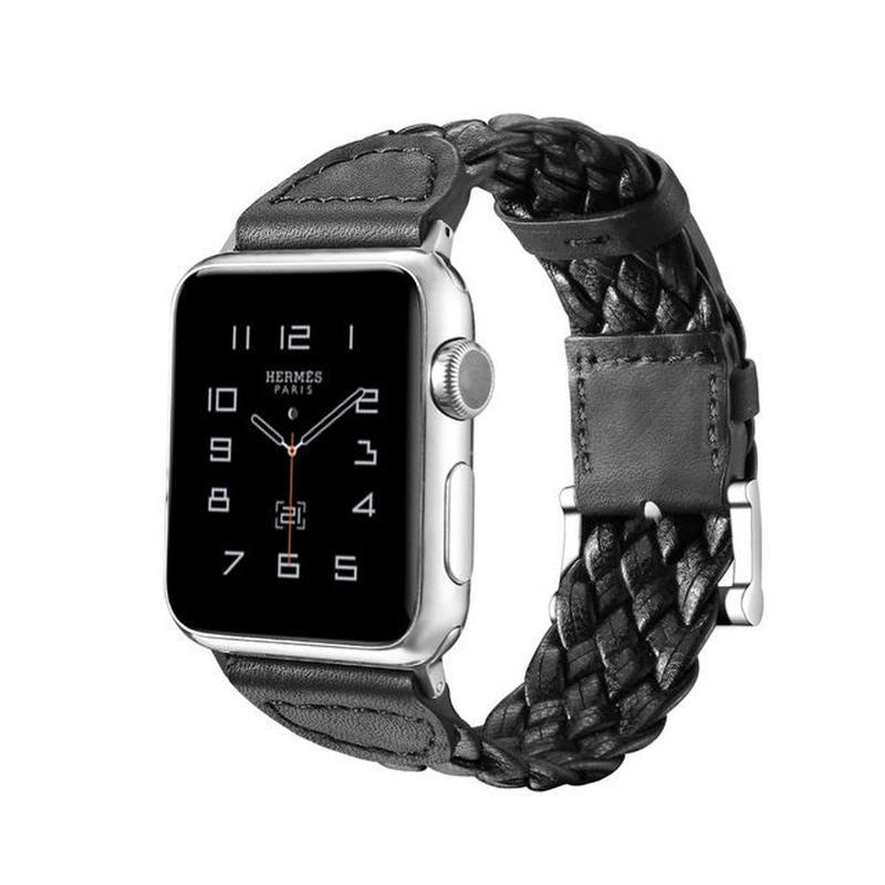 [NW540] ★Apple Watch belt 38mm/42mm ★ 本革 編み込み アップルウォッチ 替えベルト バンド シンプル メンズ レディース