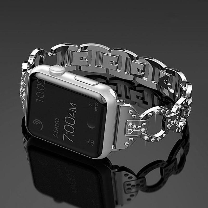 [NW586] ★Apple Watch belt 38mm/42mm ★ アップルウォッチ 替えベルト バンド ストーン ラウンド ブレスレット きらきら