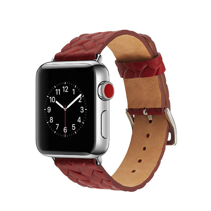 [NW542] ★Apple Watch belt 38mm/42mm ★編み込み シンプル 本革 アップルウォッチ 替えベルト バンド ナチュラル オシャレ