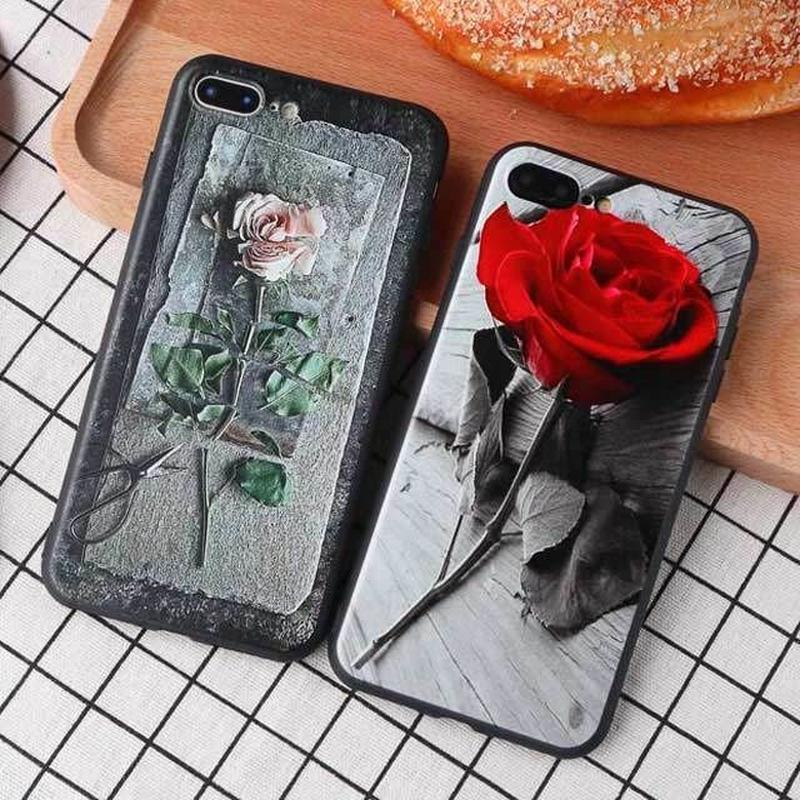 [MD202] ★ iPhone SE / 5 / 5s / 6 / 6s /6Plus / 6sPlus / 7 / 7Plus / 8 / 8Plus / X ★ シェルカバー ケース  バラ