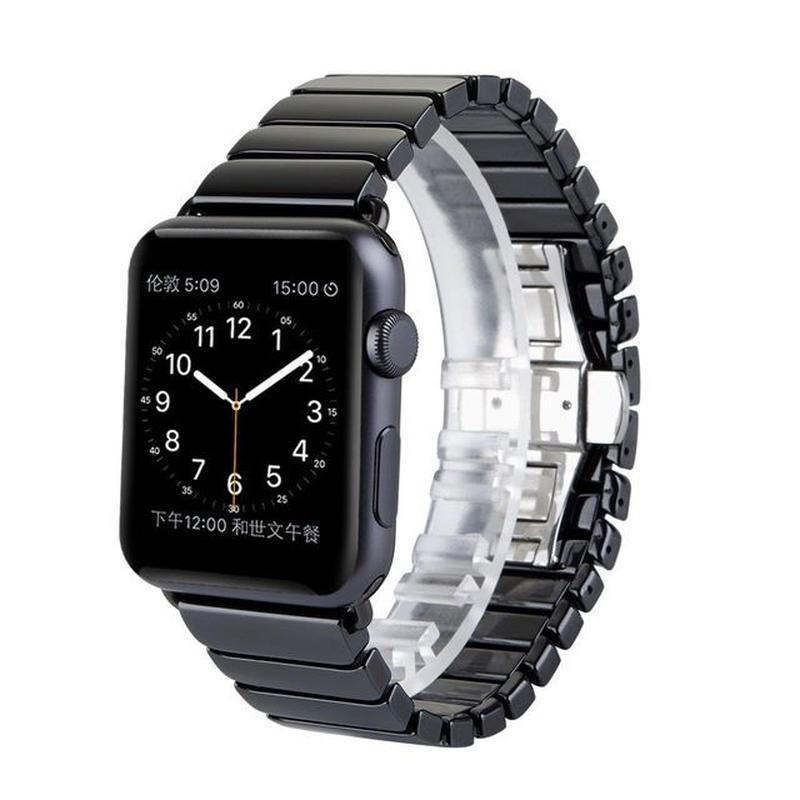 [NW546] ★Apple Watch belt 38mm/42mm ★ セラミック ストラップ アップルウォッチ 替えベルト モノトーン カジュアル シンプル