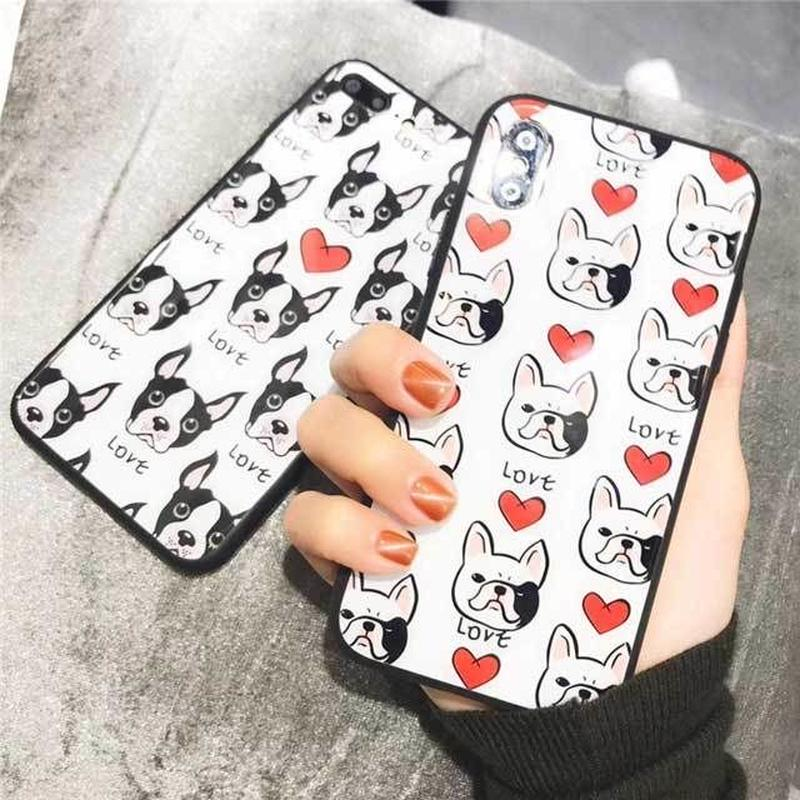 [MD449] ★ iPhone 6 / 6s / 6Plus / 6sPlus / 7 / 7Plus / 8 / 8Plus / X ★ シェルカバー ケース 犬 いっぱい 可愛い