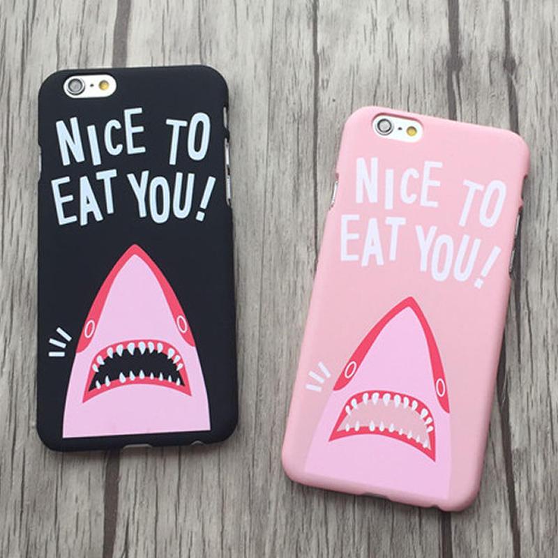 [NW219] ★ iPhone SE / 5 / 5s /  6 / 6s / 6Plus / 6sPlus / 7 / 7Plus / 8 / 8Plus ★ シェルカバー サメ ユニーク
