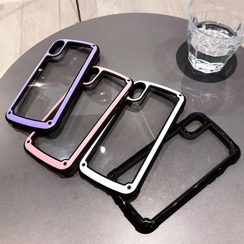 [NW559] ★ iPhone 6 / 6s / 6Plus / 6sPlus / 7 / 7Plus  / 8 / 8Plus / X ★ シェルカバー ケース スポーティ バンパー風 パステル