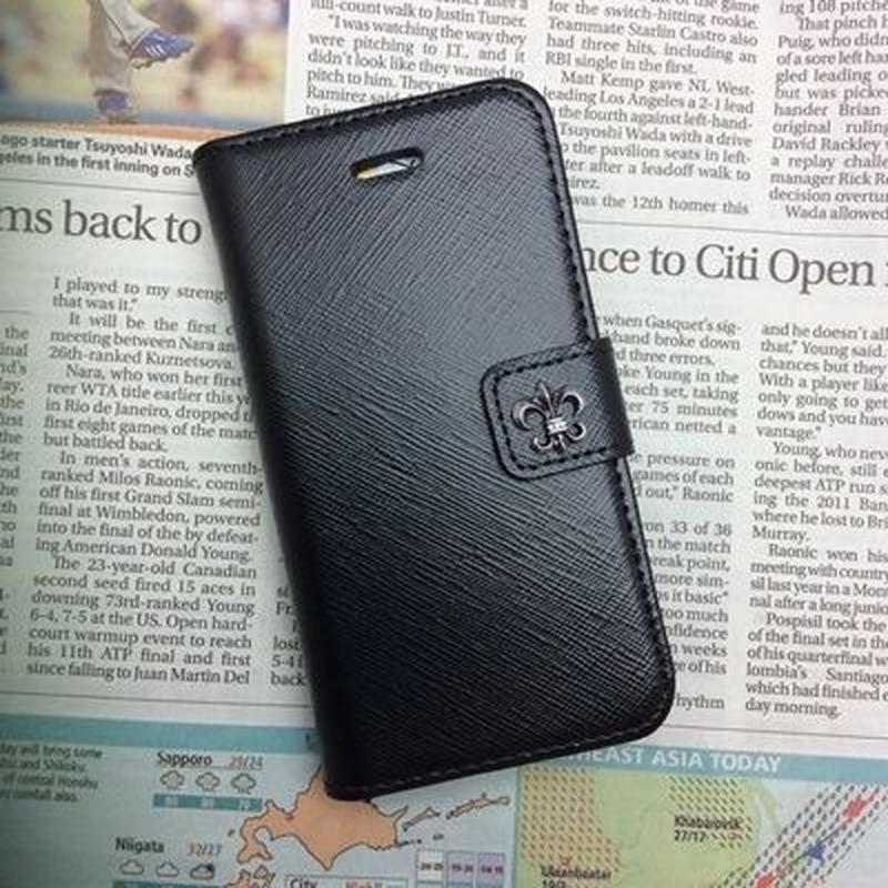 【TH039】★  iPhone 5c ★ アンティーク シルバー 百合 の 紋章 おまけ 付 おしゃれ シンプル