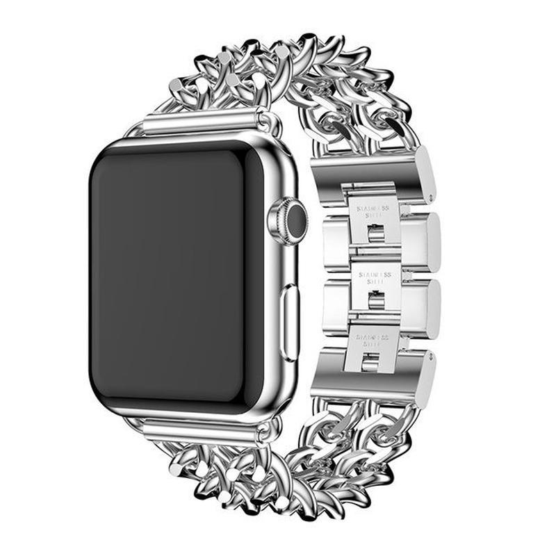 [NW539] ★Apple Watch belt 38mm/42mm ★ ステンレス アップルウォッチ 替えベルト バンド チェーン ブレスレット 大人 メンズ