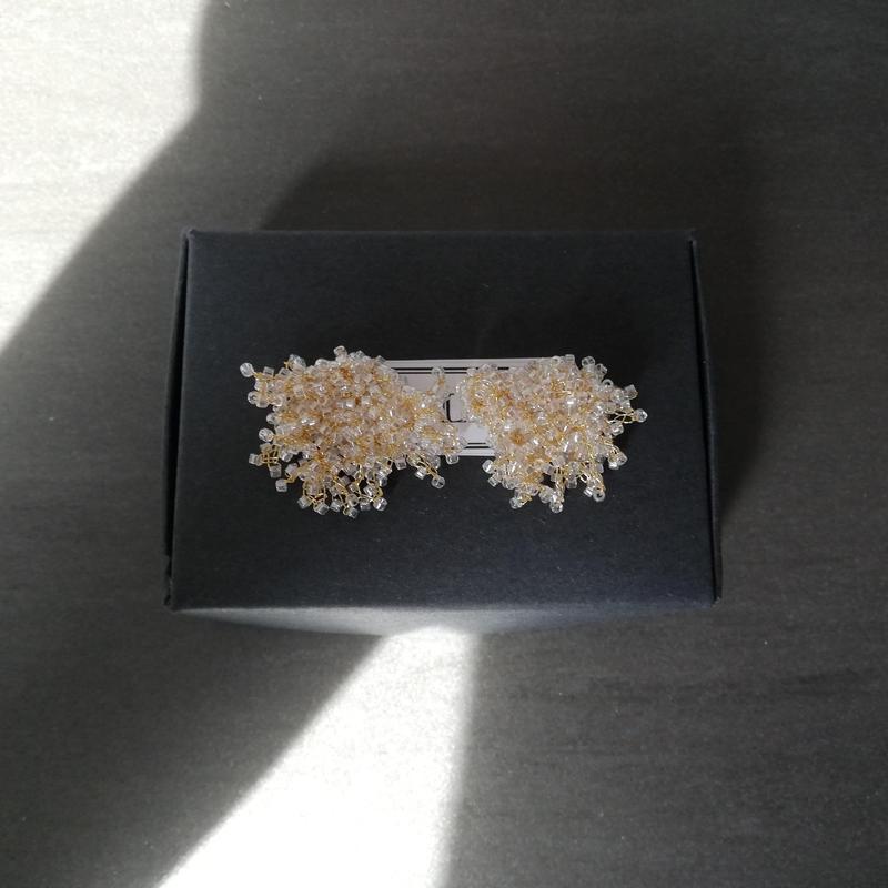 SS 透明×金糸 antique beads kasumisou