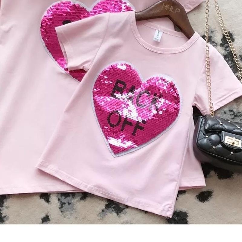 ☺︎kids★リバーシブルスパンコールデザイン【カラーが変わる】Tシャツ★ピンク