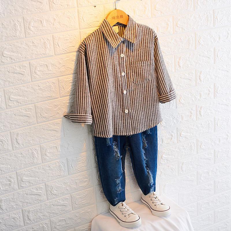 ★kids☻ユニセックスok!シンプルデザインストライプシャツ【ブラック】#107